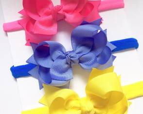 Kit 3 faixas hairbow