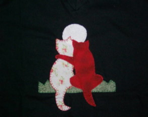 camiseta-adulto-casal-gatos