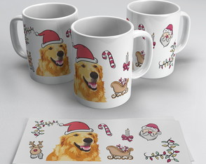 Caneca Golden Retriever Natal