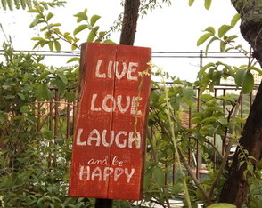 Placa Live, Love, Laugh and be Happy
