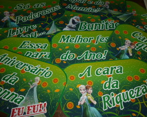 Placas divertidas FROZEN FEVER