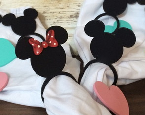 Kit Porta Guardanapo Anel Mickey e Minnie