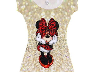 Vestidos Adulto, Minnie Gold
