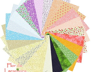 Kit Tecidos Mini Floral Patchwork 25x35