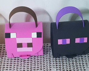 Mini mochila minecraft