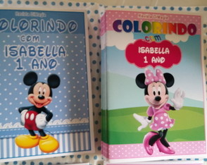 Kit de Colorir DiMagia Minnie e Mickey