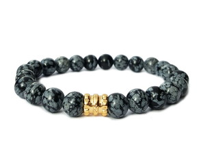 Pulseira Element Obsidiana floco de neve
