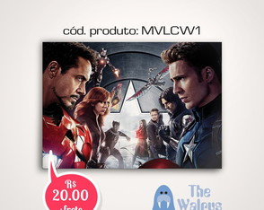 Posters Civil War Marvel - A3 S/ MOLDURA