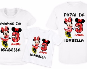 KIT 3 Camisetas Personalizadas Minnie 1