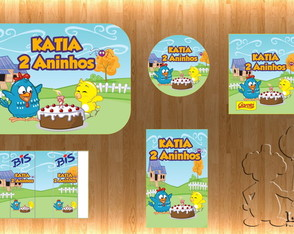 Arte Kit Digital - Galinha Pintadinha