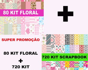 Kits Papéis Scrapbook Digital Floral