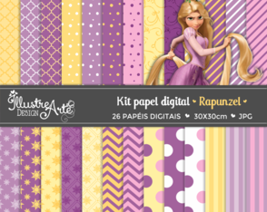 Papel Digital Rapunzel