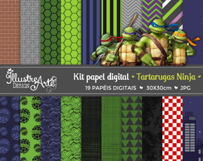 Papel Digital Tartarugas Ninja