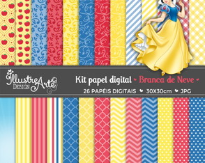 Papel Digital Branca de Neve