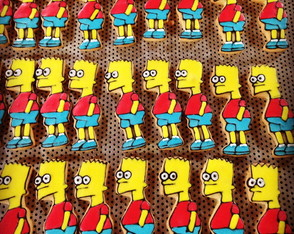 Biscoito decorado Bart!!