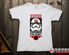 Camiseta Star Wars Fin - Branca