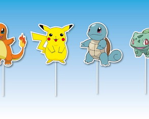 Topper para Doces Pokemon