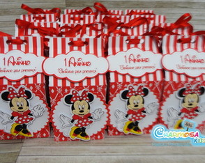 Caixa Milk tema Minnie