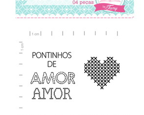 Kit Pontinho de Amor - Scrapbook by Tamy