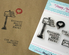 Kit Happy Mail - Scrapbook by Tamy