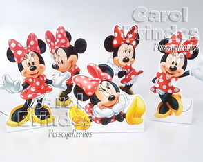 Kit c/ 5 totens de 25cm PVC MINNIE