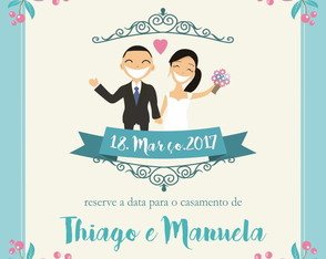Save the Date Digital - Jardim