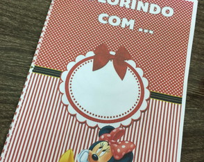 Revistinha colorindo minnie