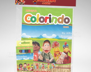 Kit Colorir Cocoricó + Brindes
