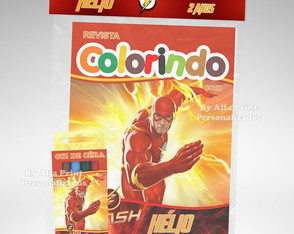 Kit Colorir Flash + Brindes