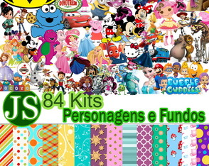 84 Kits Digital Scrap Personagens Fundos