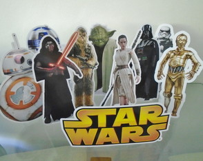 Kit 10 Totens de Mesa Star Wars