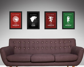 Quadros do Game of Thrones (4 quadros)