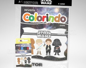 Kit Colorir Star Wars Cute + Brindes