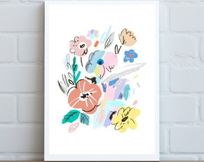 Poster Floral Abstrato