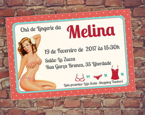 Convite Lingerie Pin Up - ARTE DIGITAL