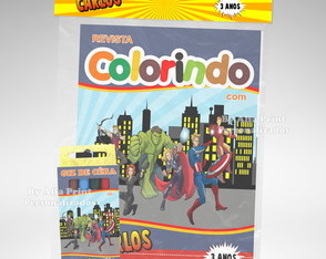 Kit Colorir Vingadores + Brindes