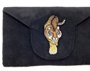 Clutch com Bordado Tigre LJ4