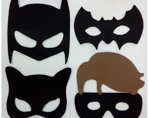 Mascaras Turma do Batman de EVA