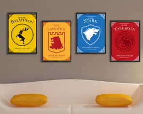 Coleção com 4 posters do Game of Thrones