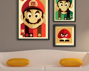 Kit Poster Super Mario infantil decorar