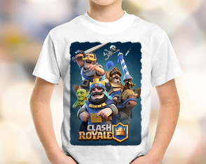 Camiseta Infantil Clash Royale