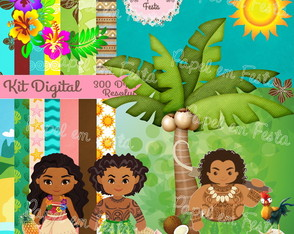 Kit Digital Moana - Um Mar de Aventuras
