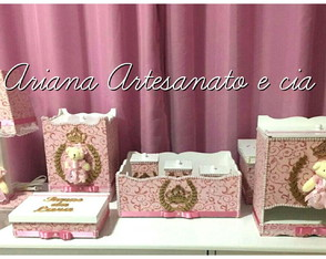 Kit higiene Ursinha Princesa rose