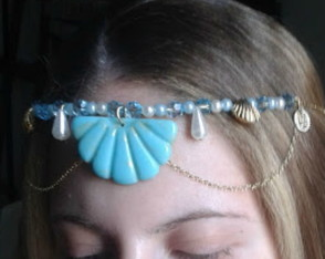 Headpiece colar Sereia