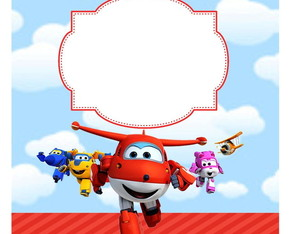 Convite a Super Wings + Envelope