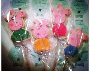 Biscoito decorado Peppa