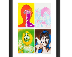 Quadro Beatle Musica Cult Pop Arte Rock