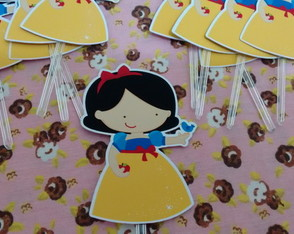 Topper Doces Branca de Neve Cute