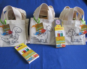 Kit-Color Mini-Sacola Ecológica Dinos