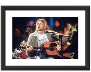 Quadro Kurt Cobain Nirvana Rock MTV Arte